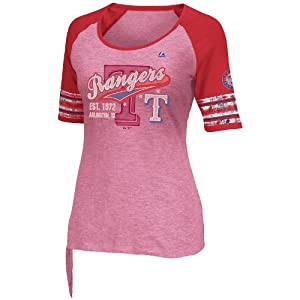 MLB Texas Rangers Ladies My Favorite Game T-Shirt, Cardinal Red by Majestic