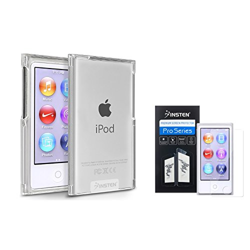 Insten Clear Slim Snap-on Case + Clear Reusable Screen Protector Compatible with Apple iPod nano 7th Generation