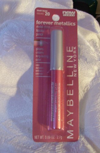 Maybelline Forever Metallics Metal-shine Lipcolor Pencil, Blush Beam #20.