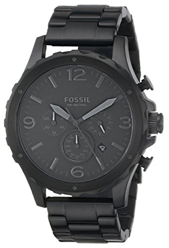 Fossil Men's JR1470 Nate Chronograph Stainless Steel Watch ...
