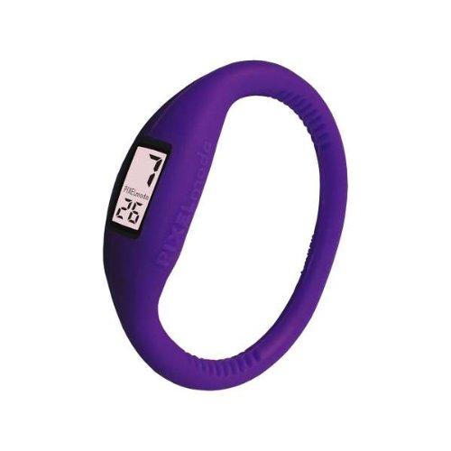 Pixelmoda Digital PLUM Color Water Resistant Italian Style Unisex Silicone Watch – SMALL 15 CM
