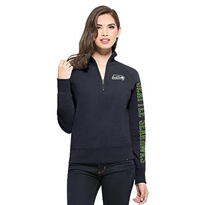 NFL Women's '47 Shimmer Cross-Check 1/4-Zip Fleece Pullover
