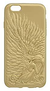 Saihan Embossed Gold Angel Wings Case TPU Cover For iPhone 6 - Gold