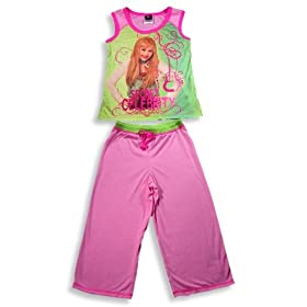 Hannah Montana by Disney - Hannah Montana Sleeveless Pajamas, Pink, Green