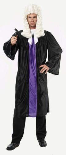 Judge Robe & Collar Fancy Dress Costume - One Size by Parties Unwrapped UK (Judge Robes Costume)