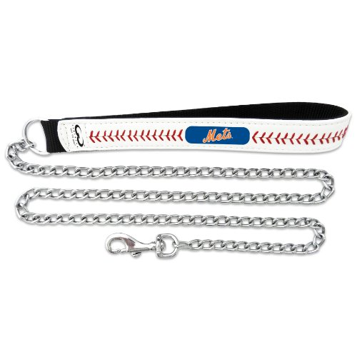 MLB New York Mets Baseball Leather Chain Leash, 3.5 mm at Amazon.com