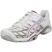 Big Sale ASICS Women's GEL-Challenger Tennis Shoe,White/Silver/Boysenberry,7.5 M