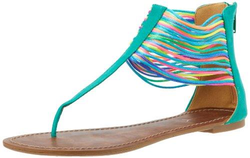 Gomax Women's Berdine 78 Thong Sandal,Green,8 M US