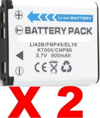 NEEWER® Two (2x) Batteries LI-42B for Olympus SP Series - SP-700, Stylus 1040, 1200, 700, 710, 720, 730, 740, 750, 760, 780, 725, 770, 790, 820, 830, 840, 850
