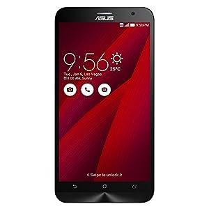 Asus ZenFone 2 Smartphone débloqué 4G ZE551ML (5.5 pouces - 64 Go - Double SIM - Android 5.0 Lollipop) Rouge (Import Italie)