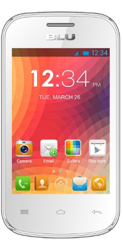 BLU Dash JR D140 Unlocked Dual Sim Phone (White)