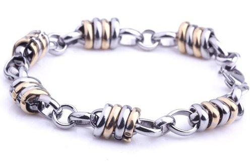 Elegant Mens Stainless Steel Striped Weave Bracelet Cheap Punk Jewelry,101123 (B)