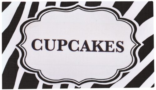 Bella Cupcake Couture Place Cards, Zebra Black And White front-986524