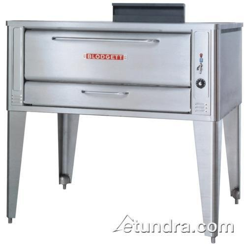 Large Gas Pizza Deck Oven - One Base Section With 32 Inch Black Legs, Stainless Steel Draft Diverter Or Draft Hood, And Crown Angle Trim -- 1 Each.