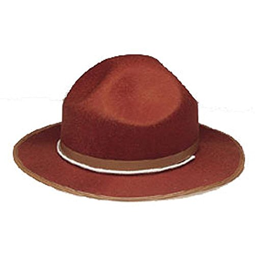 Adult Brown Mountie Man Costume Hat