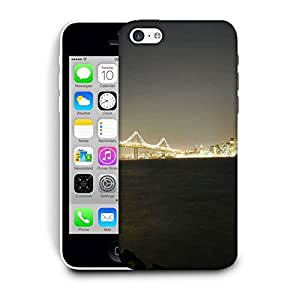 Snoogg Colrful Lights At Sealings Printed Protective Phone Back Case Cover For Apple Iphone 5C