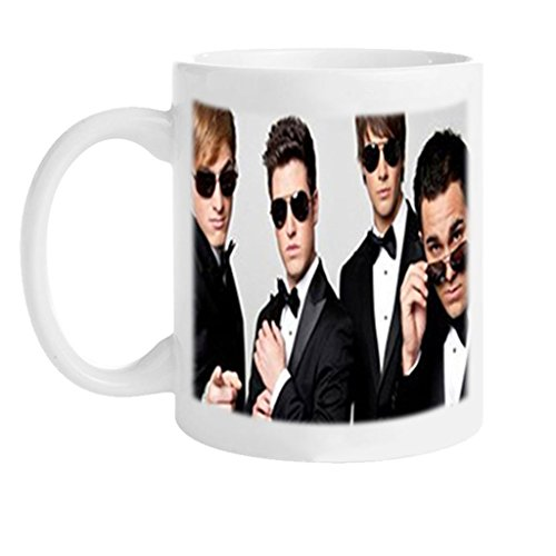 JULIEMAN Custom Big Time Rush Band Design White Mug Coffee Mug Creative Milk Mug Personalized Tea Cup (Big Time Rush Mug compare prices)