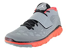 Nike Jordan Men\'s Jordan Flight Flex Trainer 2 Wlf Gry/White/Mtlc Hmtt/Hypr O Training Shoe 9.5 Men US