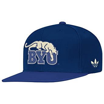 NCAA BYU Cougars Snapback Hat, One Size Fits All, Blue/Navy