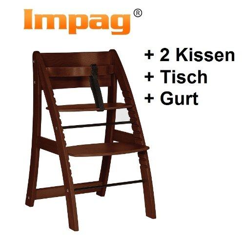 Impag® Design Wooden Highchair A-Shape brown