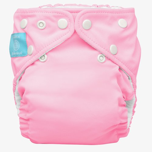 Charlie Banana Diaper In Bellywrap, Baby Pink, Large, 0.42 Pounds (Pack of 24) - 1
