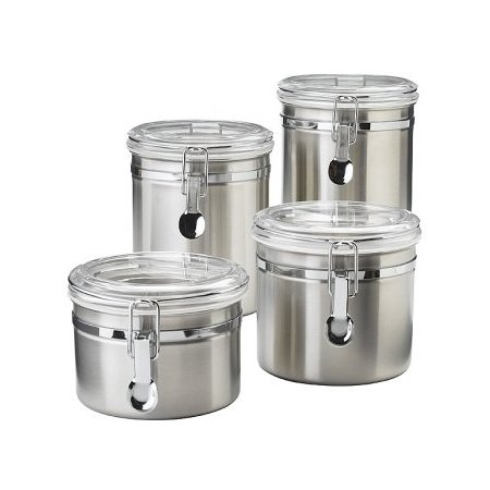 18/8 Stainless Steel Canister, Set of 4