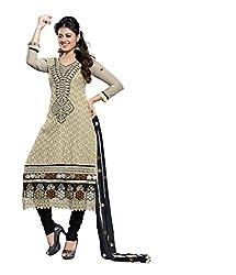 Avani Womens Cotton Stone Work Unstitched Dress Material (Avani065 _Gray)