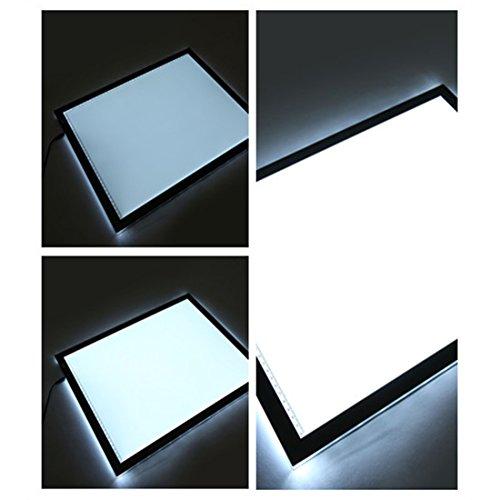 QualityBazaar 17.7 Inch LED Artcraft Tracing Light Pad Light Box A4