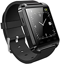 Memteq BX133 - SmartWatch Bluetooth 2.4 GHz para smartphones Android 4.2, color negro