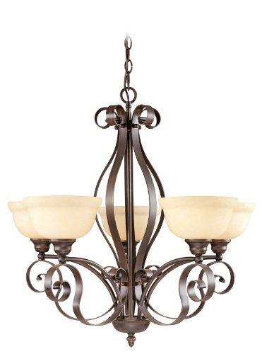 Amazing Livex Lighting Manchester Light Imperial Bronze Chandelier with Vintage Alabaster Glass