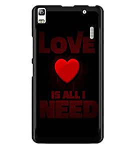 PrintDhaba Quote D-4412 Back Case Cover for LENOVO A7000 (Multi-Coloured)