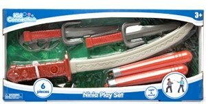 Ninja Play Set with Sound- Red - 1