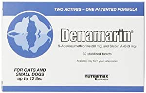 Nutramax Denamarin Tabs for Cats and Small Dogs up to 12 Lbs. - 30 Tablets