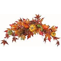 Fall Swag- Autumn Pumpkin Gourd Swag WR4555