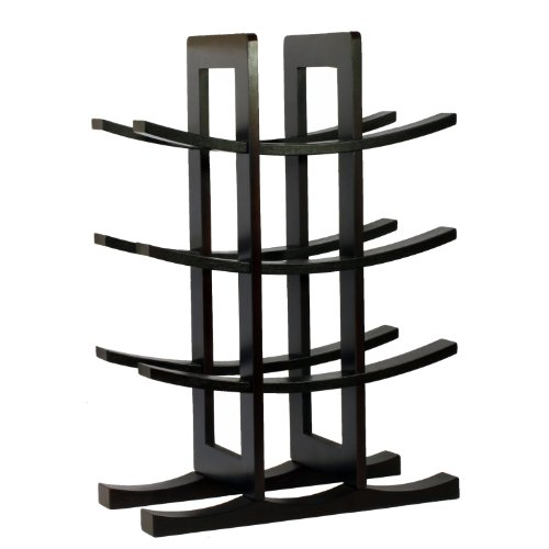 Oceanstar 12-Bottle Dark Espresso Bamboo Wine Rack WR1132 Oceanstar 12-Bottle Dark Espresso Bamboo