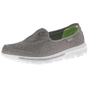 Skechers  GOwalk Safari Shoes - Ladies - Silver - 7.5 - Skechers