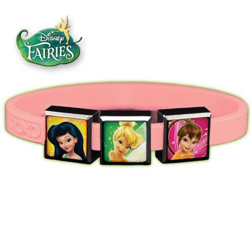 Roxo Small Disney Fairies 3-Charm Set with Pink Disco Glow Band - 1