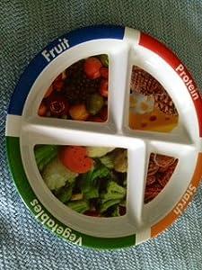 adult portion divided melamine plate dinner plates dinner plates. Black Bedroom Furniture Sets. Home Design Ideas