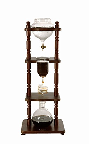Yama-Glass-6-8-Cup-Cold-Drip-Maker-Curved-Brown-Wood-Frame