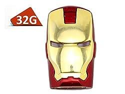 High Quality Metal The Avengers Ironman Red 32gb USB 2.0 Flash Drive
