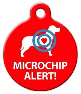 Microchip Alert Dog Pet ID Tag for Dogs and Cats - Dog Tag Art