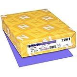 Neenah Astrobrights Premium Color Card Stock, 65 lb, 8.5 x 11 Inches, 250 Sheets, Gravity Grape