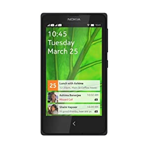 Nokia X DUAL SIM Black 4GB Unlocked Smart phone. 4 inch Touch screen