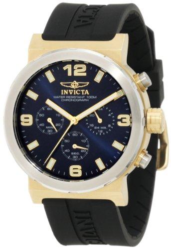 a4f55bdfbf59 Invicta Men s 10638 Specialty Chronograph Blue Dial Black Polyurethane Watch