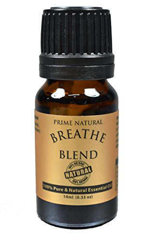 Breathe Essential Oil Blend 10ml /.33oz - 100% Natural Pure & Undiluted Best for Aromatherapy, Scents & Diffuser - Sinus Relief, Allergy Relief, Congestion Relief, Cold, Cough & Respiratory Problems
