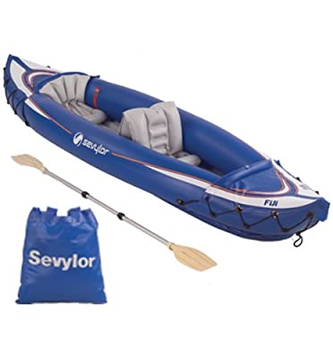2000004050 Blue 2 Passenger Sevylor Inflatable Fiji Travel Pack Kayak