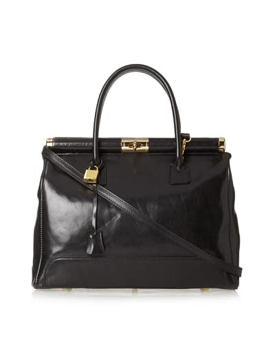 Merci Marie Women's Sofia Large Satchel, Black As You See