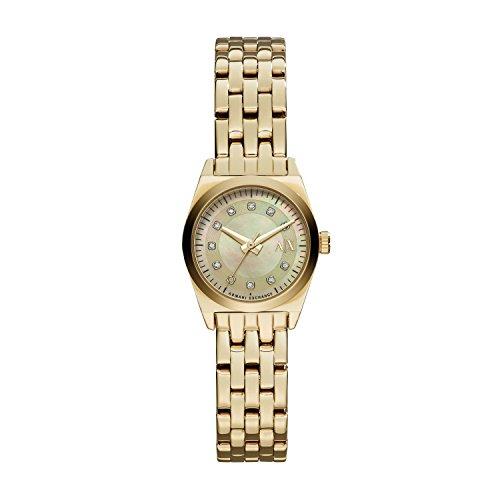 Emporio Armani AX5331 - Reloj con correa de metal para mujer, color plateado
