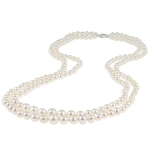 Graduated White Freshwater Pearl Necklace (6-11 mm)