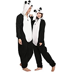 Adult Animal Unisex Panda Onesies Hoodie Sleepwear Kigurumi Costume Party Pajamas